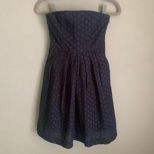 NWT Gap Navy Eyelet Dress